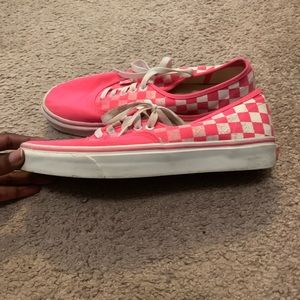Pink Checker Vans-Classic
